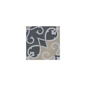 Artisan Arabesque Charcoal Mustard tiles