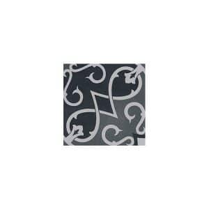 Artisan Arabesque Forest Black tiles