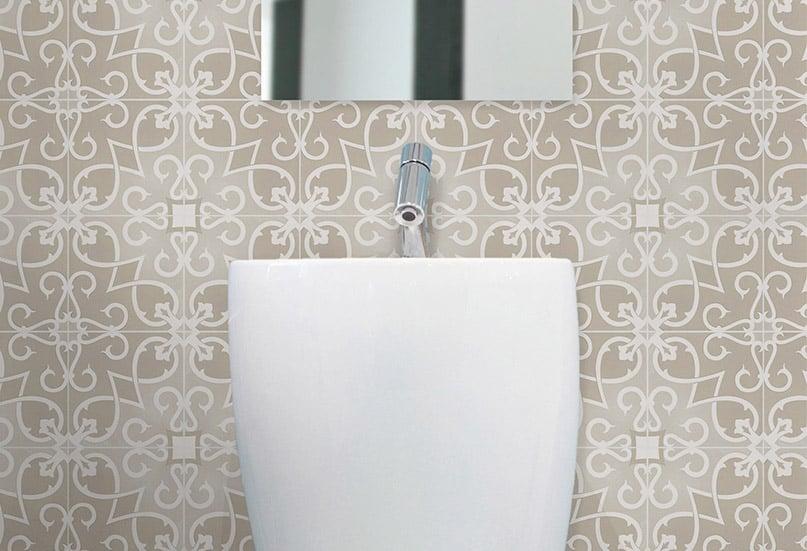 Artisan Arabesque Tan Clay tiles