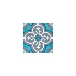 Artisan Marrakesh Turquoise Charcoal tiles