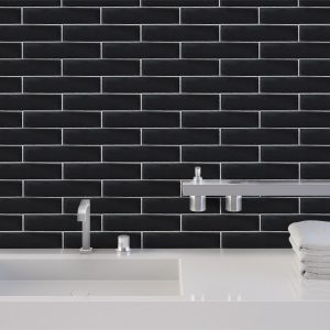 Chateau Black Gloss wall tiles