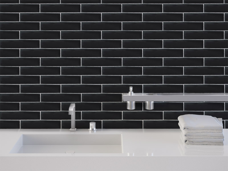 Chateau Black Gloss wall tiles