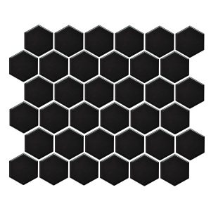 Hexagon Gloss Black tiles