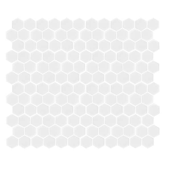 Hexagon Gloss white tiles