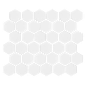 Hexagon Gloss White tiles 51 x 51