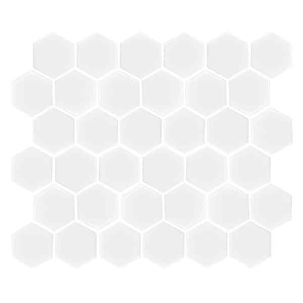 Hexagon Gloss White tiles 51 x 51