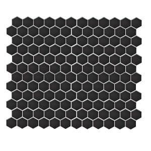 Hexagon Gloss Black tiles