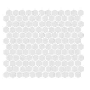 Hexagon Matt white tiles