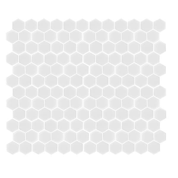 Hexagon Matt white tiles