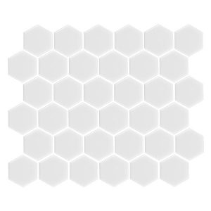Hexagon Matte White tiles 51 x 51