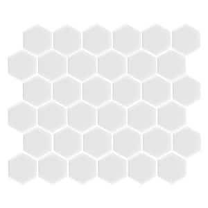 Hexagon Matte White tiles 51 x 51