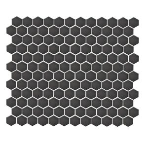 Hexagon Matte Black tiles