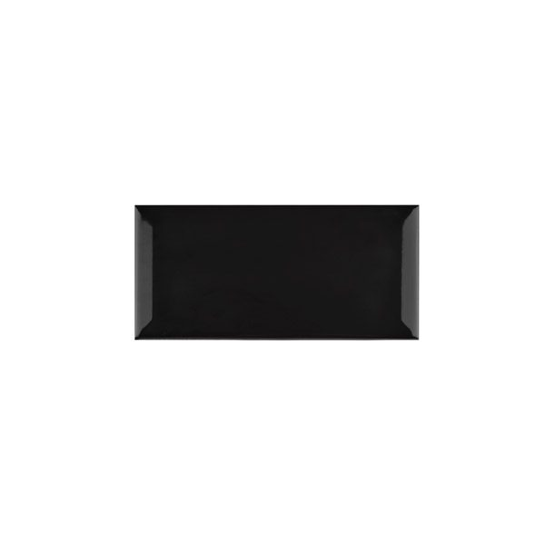 Metro Black Bevelled Edge tiles