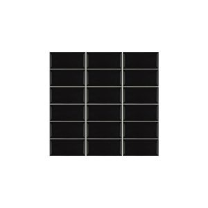 Metro Black Bevelled Edge tiles