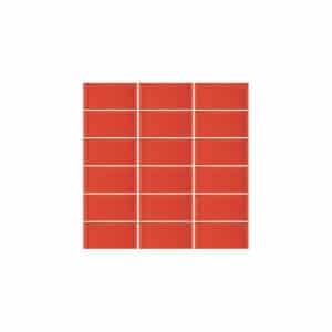 Metro Red Bevelled Edge tiles