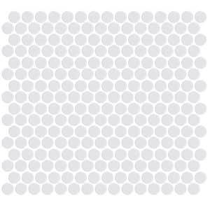 Penny Round Gloss White tiles