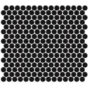 Penny Round Matte Black tiles