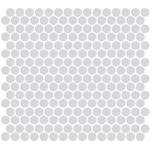 Penny Round Matte White tiles