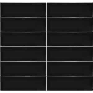 Plain Gloss Pressed Edge Black tiles