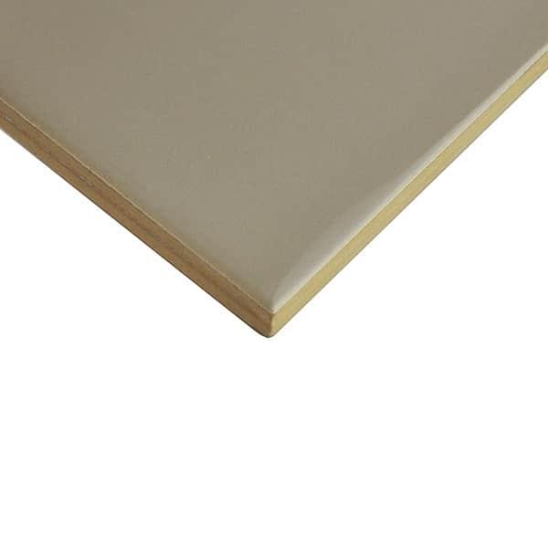 Plain Gloss Pressed Edge Dusty Grey tiles