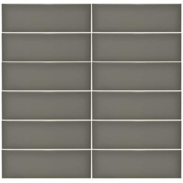 Plain Gloss Pressed Edge Gris tiles