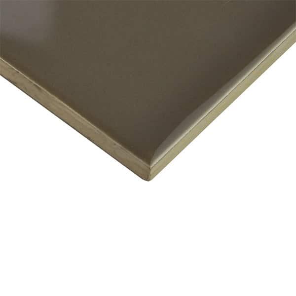 Plain Gloss Pressed Edge Mocha tiles
