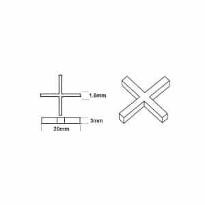 1.5mm Cross Spacers