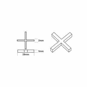 2mm Cross Spacers