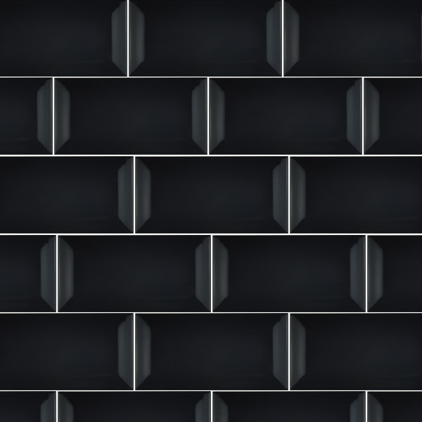 Black Gloss Kitchen Wall Tiles