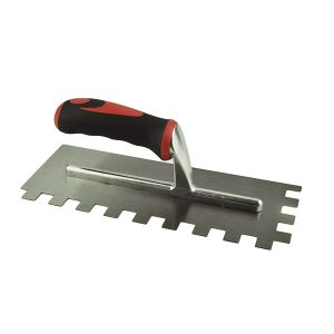 Bright Steel Adhesive Trowel with rubber handle