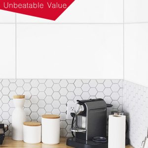 White Gloss Rectified Edge Wall tiles 300×600