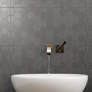 Infinity Geo Charcoal tiles