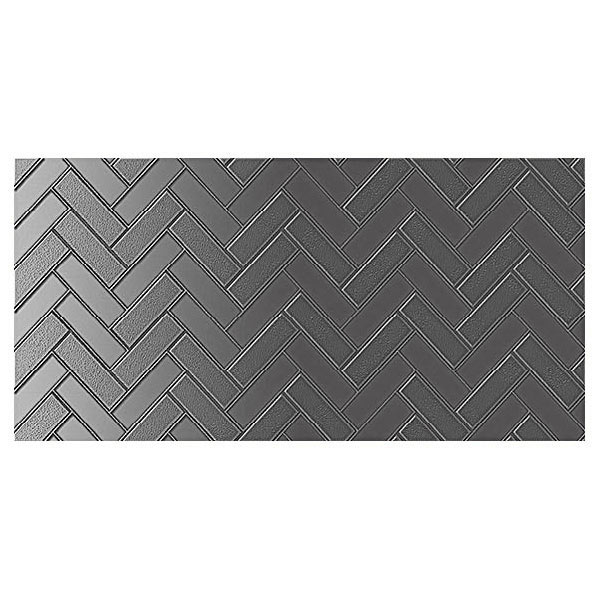 Infinity Mason Charcoal feature tiles
