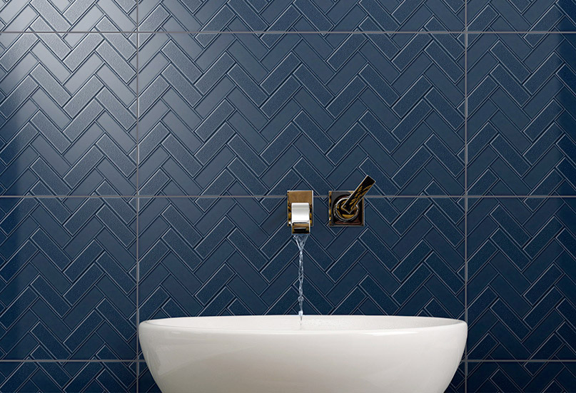Infinity Mason Midnight wall tiles