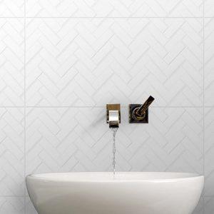 Infinity Mason Milk feature tiles