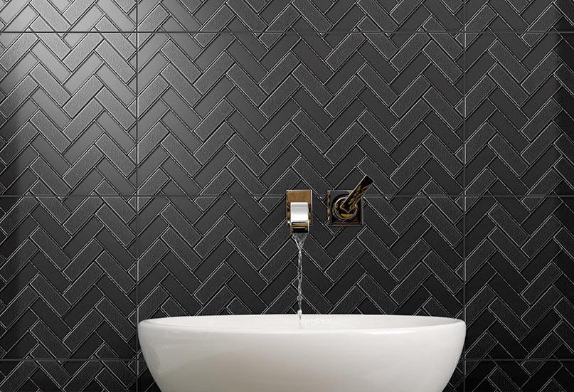 Infinity Mason Onyx feature tiles