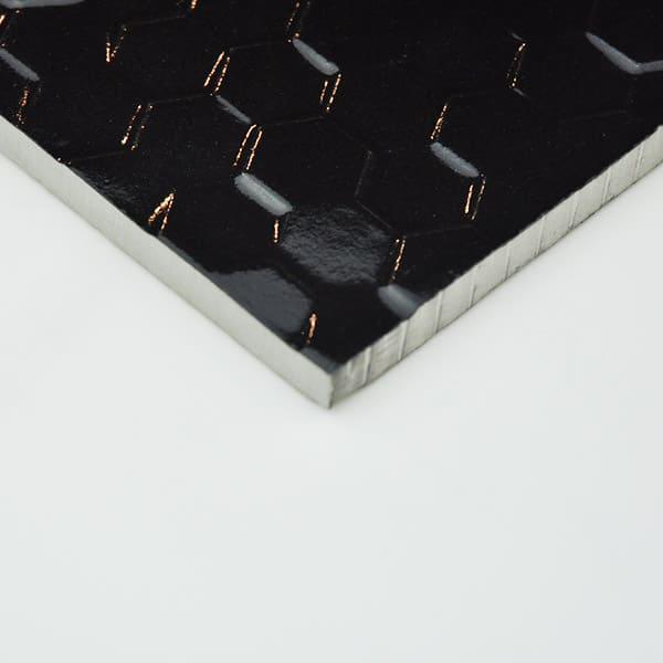 Hex Series Hexagonal black tiles