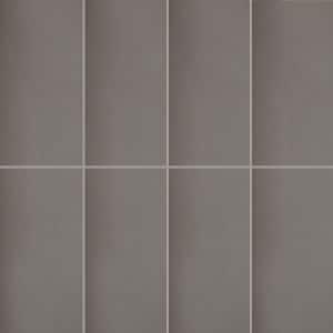 Long Gloss Charcoal wall tiles