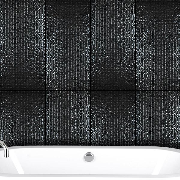 Metallic Series Black tiles