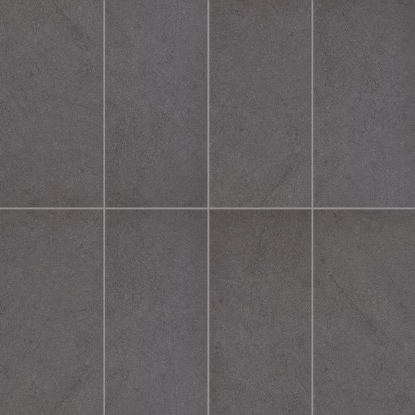Charcoal tile floor