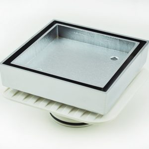Bermida Floor Waste Chrome Square Megaflex