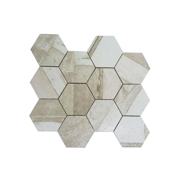Doors Hexagon Chiaro mosaic tiles