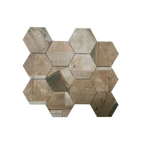 Doors Hexagon Scuro mosaic tiles