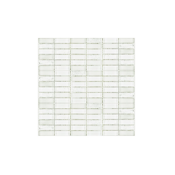 Super White Crackle Mosaic wall tiles