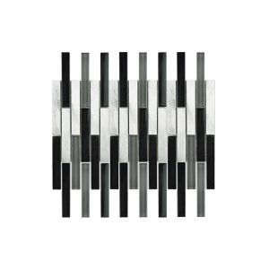 Essential Features Focus BLack Interlocking Mosaic Wall tiles