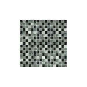 Essential Features Focus Black Small Glass Mosaic Wall tiles
