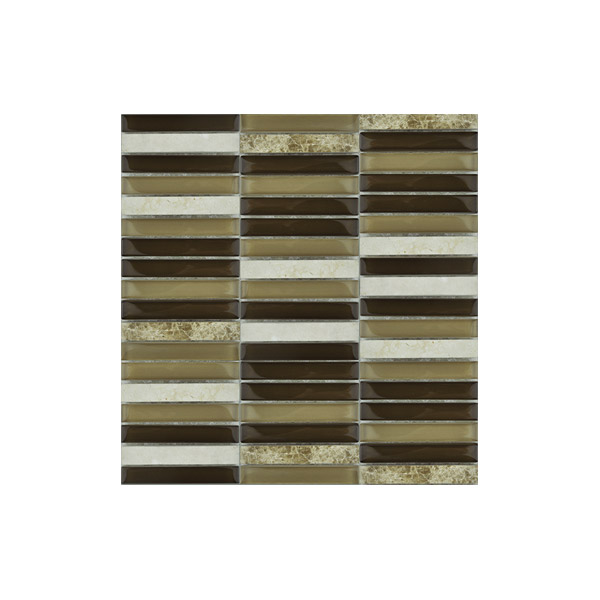 Essential Features Military Desert Sand Glass Mosaic Wall tiles