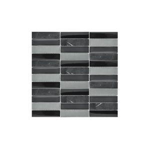 Essential Features Natural Charcoal Marquina Glass Mosaic Wall tiles