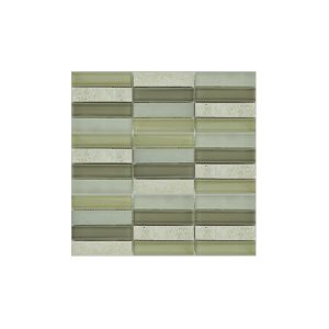 Essential Features Natural Olive Crema Glass Mosaic Wall tiles