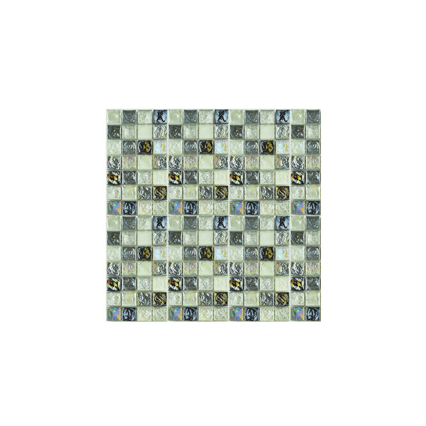 Essential Features Storm Brew Glass Mosaic Wall tiles